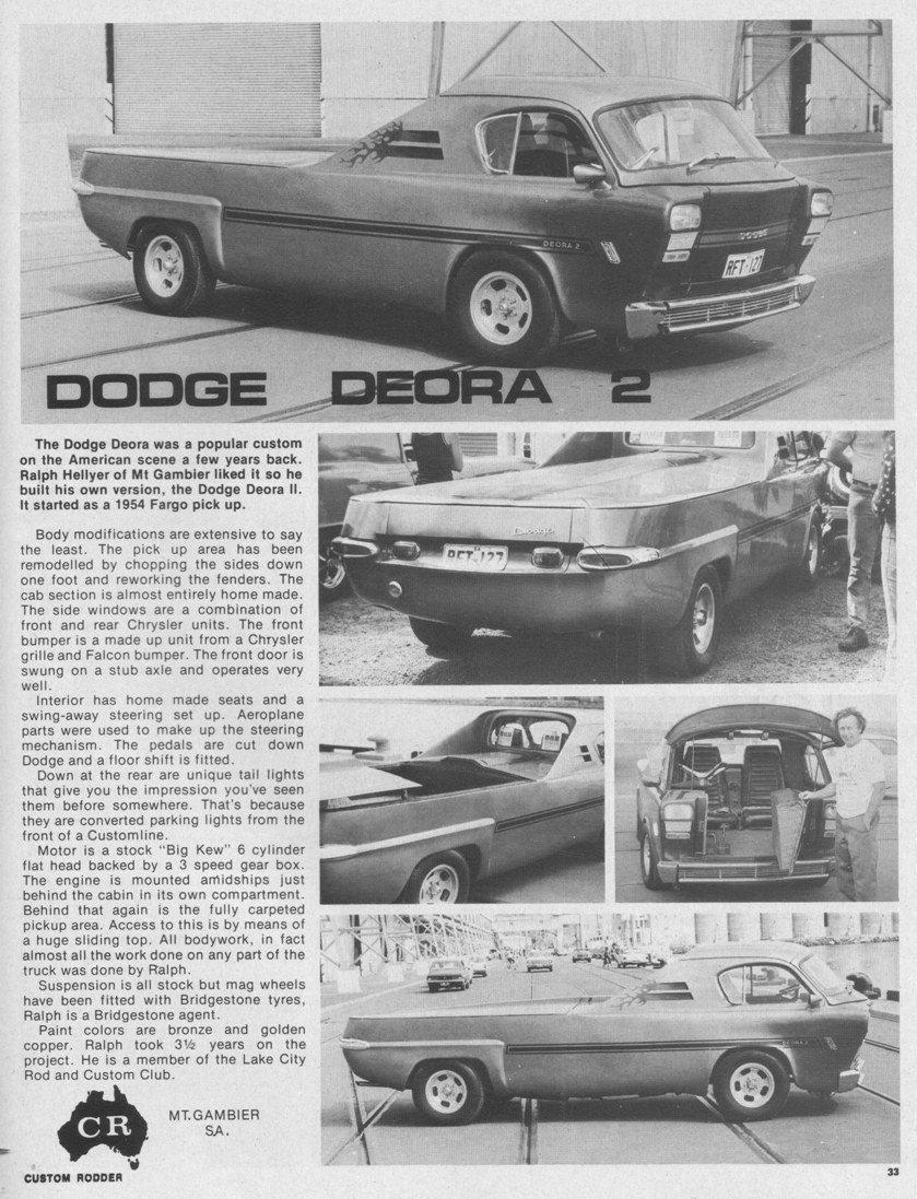 Vehicle Rego Check >> Dodge Deora Two | Kustom Kulture Australia